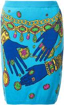 Moschino hands and jewels skirt - women - Cotton - 38