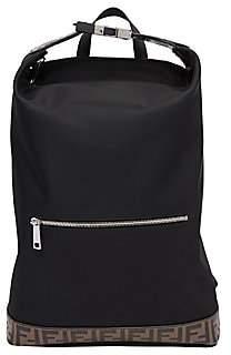 Fendi Men's FF Embossed Nylon Backpack Tote