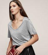Reiss Evie Scoop-Neck T-Shirt