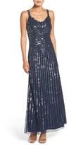 Pisarro Nights Embellished Mesh Fit & Flare Dress