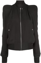 Rick Owens zipped structured shoulder jacket