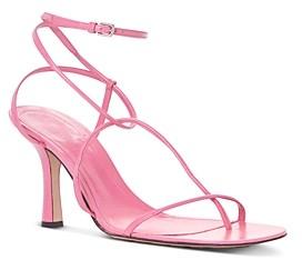 Bottega Veneta Women's Square Toe Strappy High Heel Sandals