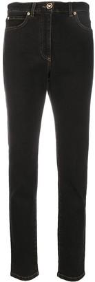 Versace high-rise slim fit denim jeans
