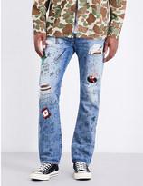 Levi's 501 scribble-print regular-fit jeans
