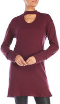 RD Style Choker Neck Sweatshirt Dress