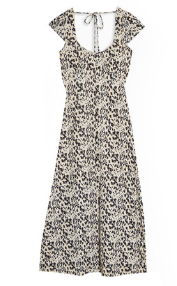 Topshop Animal Print Midi Dress