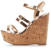 Charlotte Russe Metallic Strappy Wedge Sandals