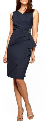 Alex Evenings Side Ruched Cocktail Dress