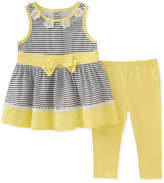 Kids Headquarters 2-Pc. Striped Tunic & Leggings Set, Little Girls