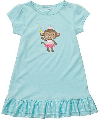 Carter's Monkey Princess Nightgown - Girls 2t-5t