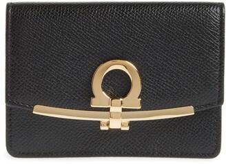 Salvatore Ferragamo Icona Leather Card Case