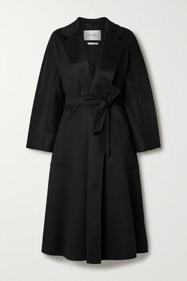 Max Mara Labbro Belted Cashmere Coat - Black
