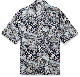 Isabel Marant Lazlo Oversized Camp-Collar Printed Cotton Shirt