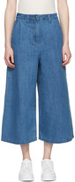 Edit Blue Denim Culottes
