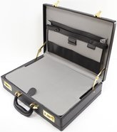 SNUGRUGS Mens Professional Leather Look Executive Briefcase with Combination Locks