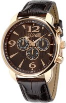 Just Cavalli Men's Watch in Brown/Pink Steel and PVD, form Round, line Earth, weight 45 grams
