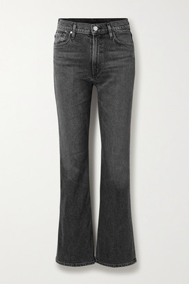 Gold Sign The Comfort High-rise Bootcut Jeans - Black