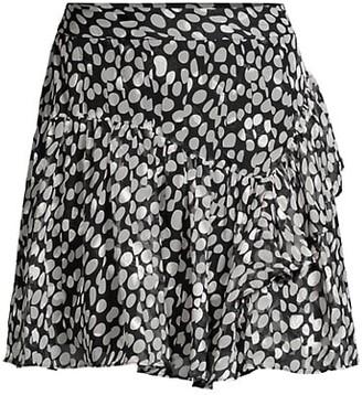 Milly Heidi Abstract Dot Skirt
