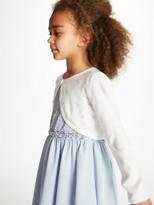 John Lewis & Partners Girls' Sequin Cardigan, Ivory