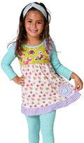 Yellow & Lime Sophia Dress & Mint Leggings - Toddler & Girls