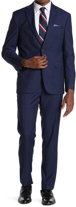 Kenneth Cole Reaction Solid Two Button Notch Lapel Techni-Cole Suit