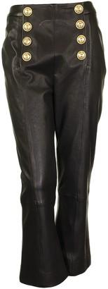 Balmain Trouser Noir Leather Lamb
