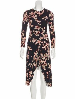 Isabel Marant Floral Knee-Length Dress Plum