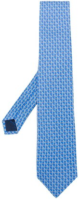 Salvatore Ferragamo Gancini Silk Jacquard Tie