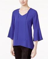 Kensie Bell-Sleeve Crepe Top