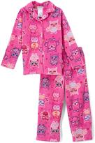 Komar Kids Pink Owl & Star Pajama Set - Girls
