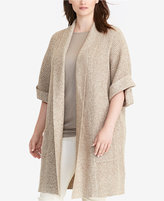 Lauren Ralph Lauren Plus Size Shawl-Collar Cardigan
