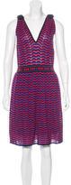 M Missoni Zigzag-Patterned Knit Dress w/ Tags