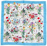 One Kings Lane Vintage Gucci Silk Twill 26 Floral Scarf
