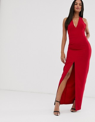 Vesper bow back maxi dress
