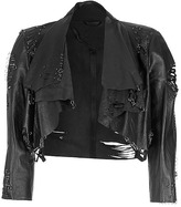 Catherine Malandrino Black Cropped Jacket