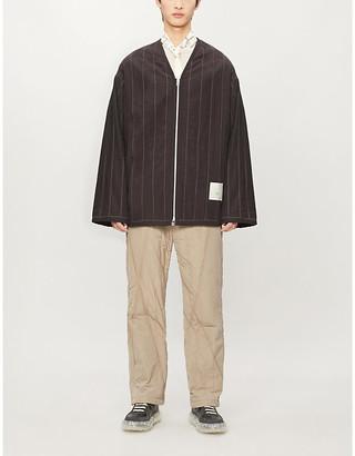 Oamc Oversized striped shell jacket