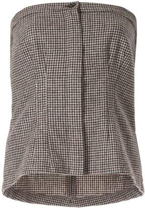 Zambesi houndstooth tube top