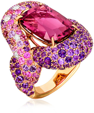 Margot McKinney One of a Kind Rubellite Jacinthe Ring