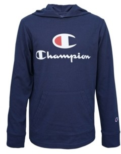 "Champion Little Boys Hooded Jersey ""C"" Script Tee"