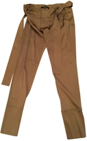 Gucci Camel Silk Trousers