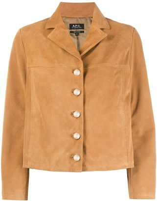 A.P.C. Notched-Lapel Button-Through Jacket