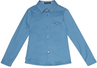 Loro Piana Kids Giblet cotton shirt