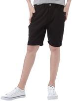 DuFFS Boys Stretch Twill Skinny Fit Shorts Black