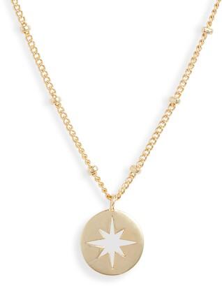 Estella Bartlett Starburst Disc Pendant Necklace