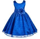 ekidsbridal Wedding Floral Lace Overlay Flower girl dress Toddler Princess 163s