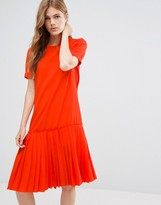 YMC Basic Dropped Hem Dress