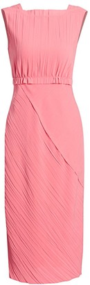 Jason Wu Collection Crinkled Boatneck Sheath Dress