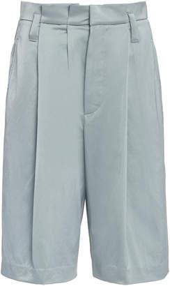 Brunello Cucinelli Pleated Sateen Bermuda Shorts