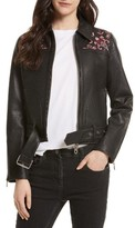 Rebecca Minkoff Women's Washoe Embroidered Leather Jacket