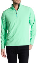 Peter Millar Werth Stretch Woven Quarter Zip Sweater